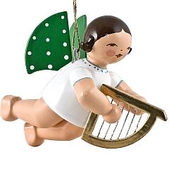 Engel mit kleiner Harfe, schwebend von Wendt & Kühn