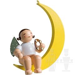 Engel mit Schellenring im Mond