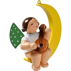 Engel mit Mandoline im Mond