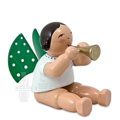 Engel mit Flöte, sitzend ohne Sockel