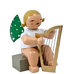 Engel mit Harfe, sitzend von Wendt & Kühn