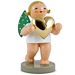 Liebesbote Engel mit Herz vergoldet Goldedition Nr. 3 von Wendt & Kühn