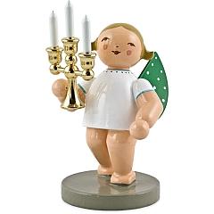 Lichterbote, Engel mit Leuchter vergoldet Goldedition Nr. 4 von Wendt & Kühn