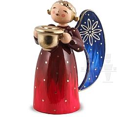 Engel klein mit Lichtnapf rot