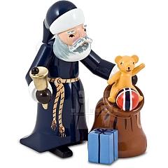 Weihnachtsmann mit Sack blau von Ulmik