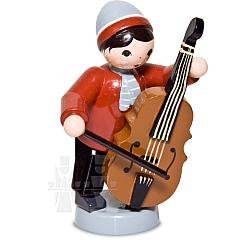 Wintermusiker mit Bass rot