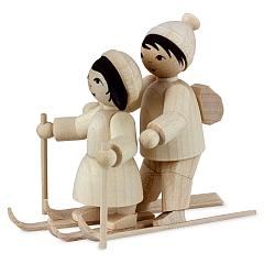 Skianfängerpaar natur