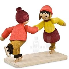 Eiskunstläuferpaar • gebeizt