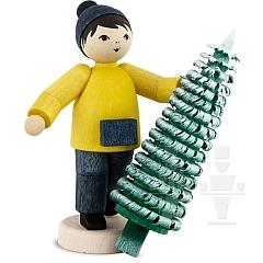 Weihnachtsbaumverkäufer • gebeizt