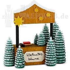 Weihnachtsbaumverkaufsstand • gebeizt