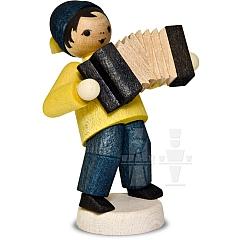 Wintermusiker mit Akkordeon • gebeizt