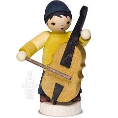 Wintermusiker mit Bass • gebeizt