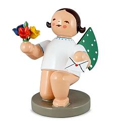 Engel mit Brief und Blume kniend von Wendt & Kühn