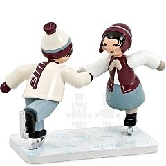 Eiskunstläuferpaar lila