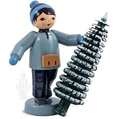 Weihnachtsbaum Verkäufer, blau