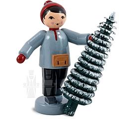Weihnachtsbaum Verkäufer, rot