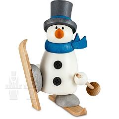 Schneemann Fritz auf Schneeschuh