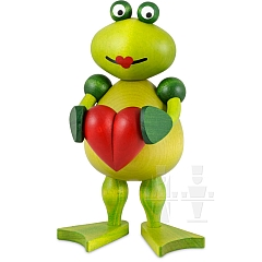 Frosch Frederike mit Herz