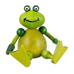 Frosch Freddy sitzend