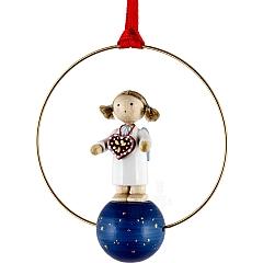 """Weihnachtsschmuck """"Engel mit Lebkuchenherz"""""""