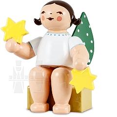 Engel klein mit zwei Sternen