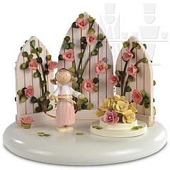 Spieldosen Szene Im Rosengarten rosé