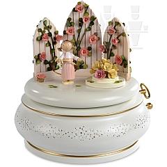 Spieldose Der verzauberte Garten rosé