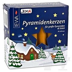 Pyramidenkerzen gelb Durchmesser 1,7 cm