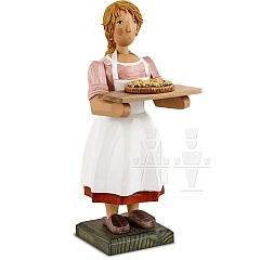 Bäckerin mit Kuchenblech