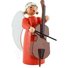 Engel mit Bass rot