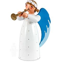 Engel mit Flöte weiß