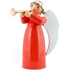 Engel mit Flöte rot