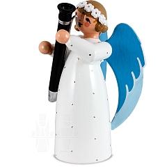 Engel mit Fagott weiß