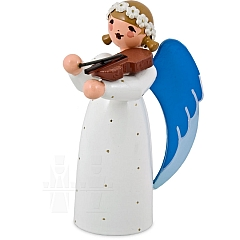 Engel mit Geige weiß