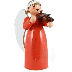 Engel mit Geige rot