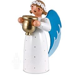 Engel mit Kerzenhalter weiß
