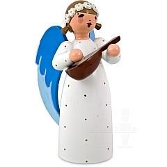 Engel mit Mandoline weiß