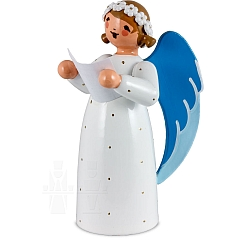 Engel mit Notenblatt weiß