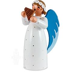 Engel mit Panflöte weiß