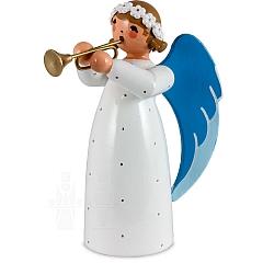 Engel mit Trompete weiß