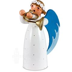 Engel mit Waldhorn weiß