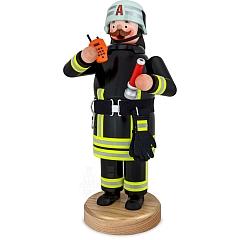 Räuchermann Feuerwehrmann mit Sprechfunkgerät