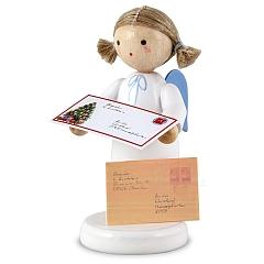 Engel mit Brief an das Christkind