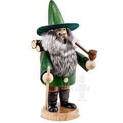Räuchermann Wichtel Holzsammler grün
