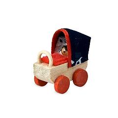 Puppenwagen mit Blaudruckplane