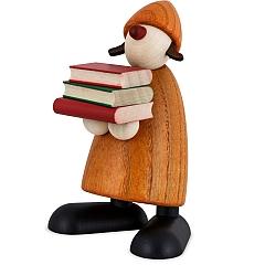 Gratulantin Lilly gelb mit Büchern