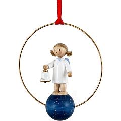 """Weihnachtsschmuck """"Engel mit Glocke"""""""