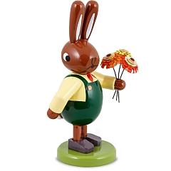 Hase mit Blumenstrauß 8 cm