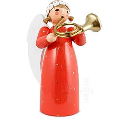 Engel mit Basshorn rot