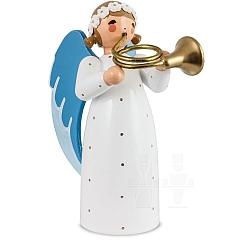 Engel mit Basshorn weiß